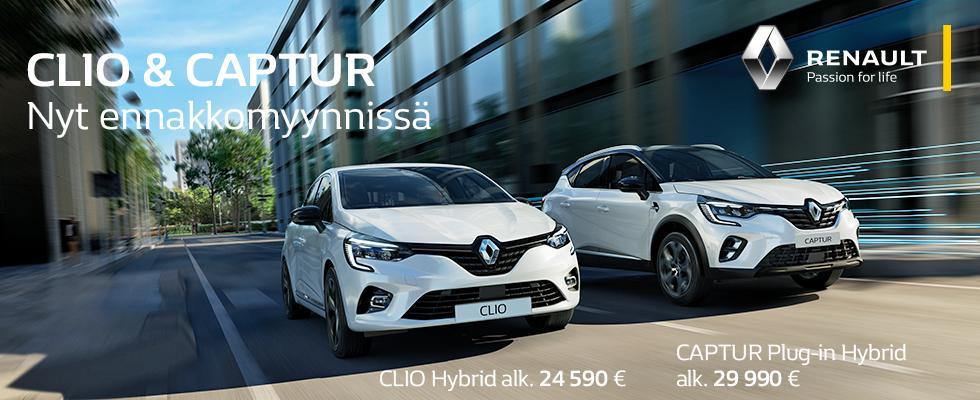 Renault Clio Captur blug in hybridi e tech