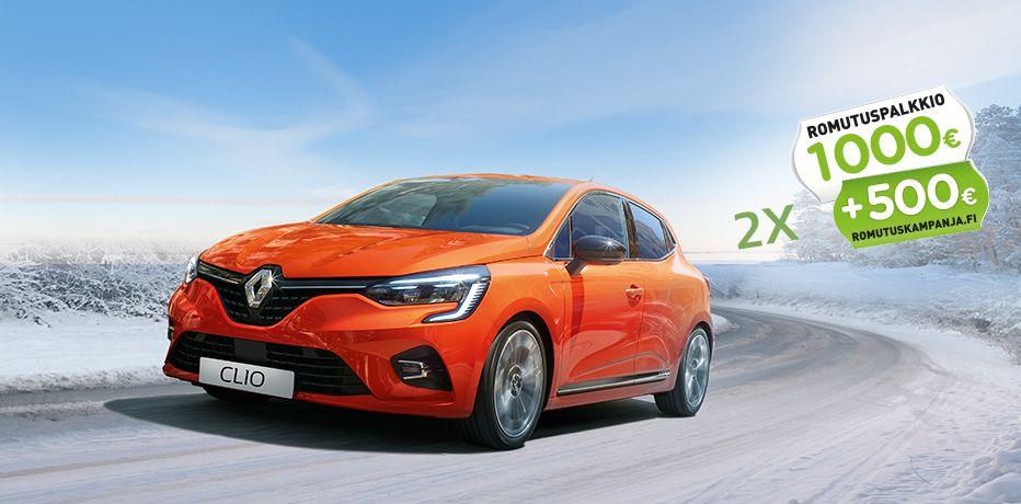 Renault clio romutuspalkkio