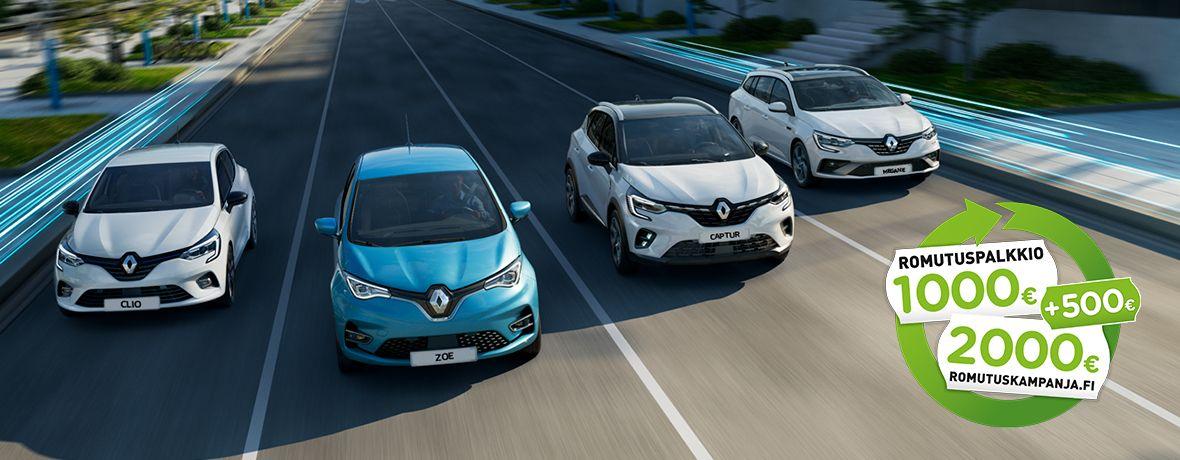Täysin uudet Renault CLIO, CAPTUR ja MÉGANE E-TECH Hybridit