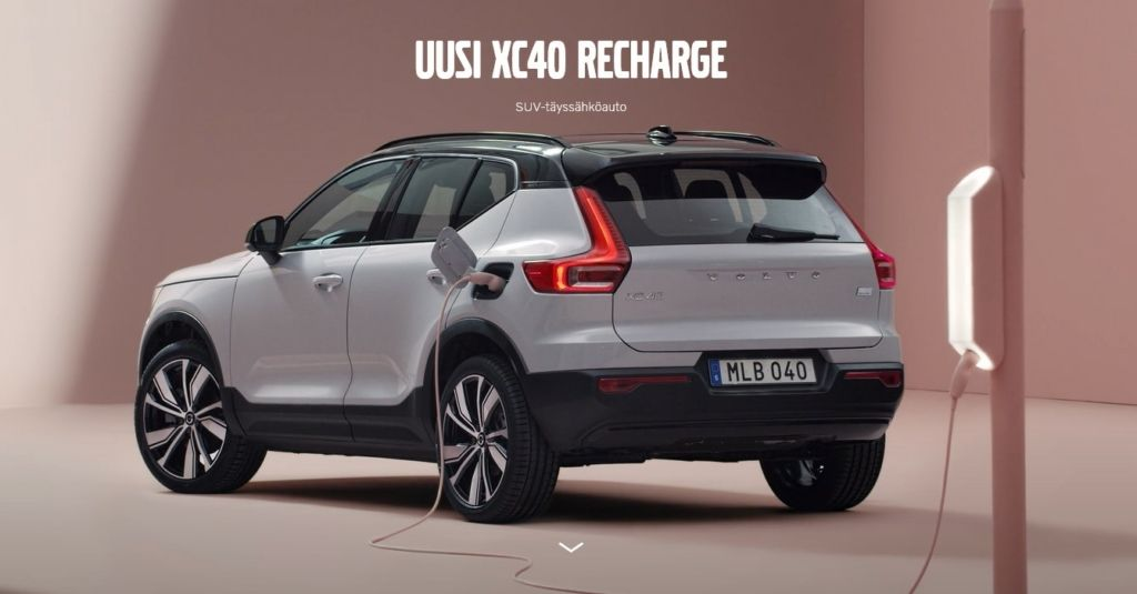 uusi Volvo xc40 recharge